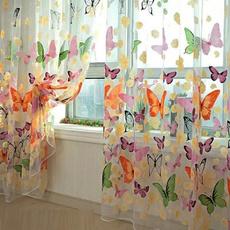 butterfly, tulle, curtainsdrapesvalance, livingroomwindowcurtain