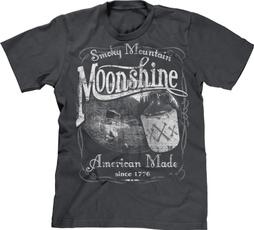 T Shirts, 1776, Men, moonshine