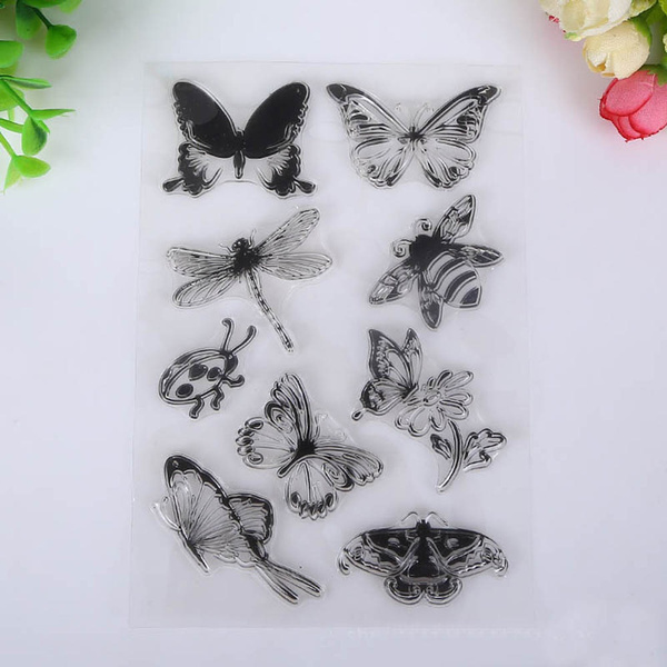 butterfly, dragon fly, Scrapbooking, rubberstamp