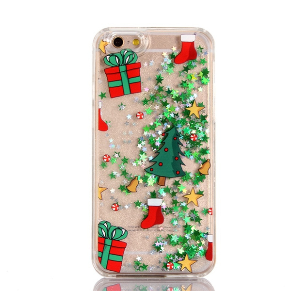 Protective Cases for Huawei P8 Lite P9/P9 Lite Christmas Xmas Gift Glitter Green Star Liquid Quicksand Case Back Cover   Wish