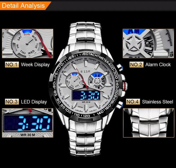 watchformen, Fashion, led, Waterproof