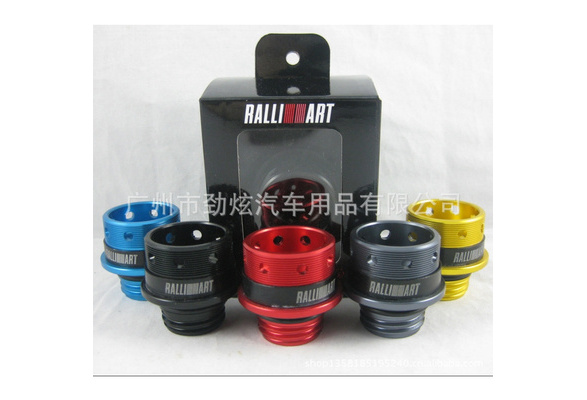 Ralliart Mitsubishi Billet Engine Car Oil Filler Cap Fuel Tank Cover JDM hs