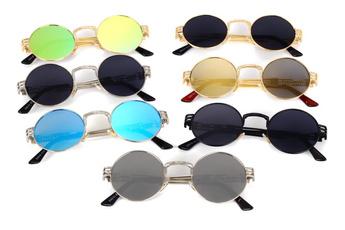 Fashion, reflectivesunglasse, pinklen, goldenframe