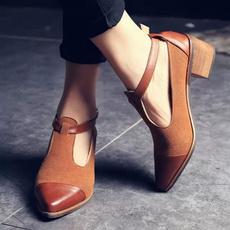 Sexy Heels, Patchwork, Vintage, Buckles