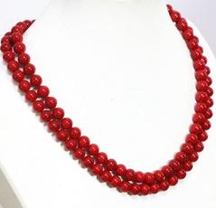 8MM, Fashion, Jewelry, Coral