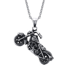 Steel, ghost, Fashion, punk necklace