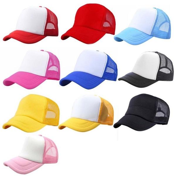 TCJX Funny Dutch Shepherd Mesh Baseball Caps Girls Adjustable Trucker Hat Sky Blue