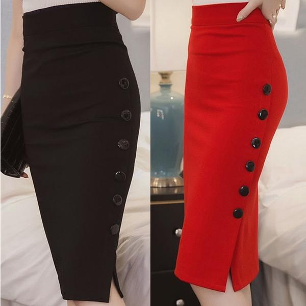 slim dress, pencil skirt, high waist, pencil