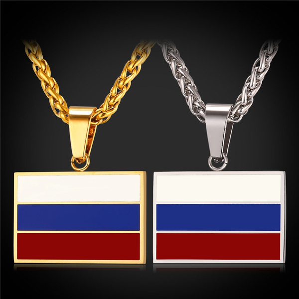 Steel, Chain Necklace, Fashion, nationalflag