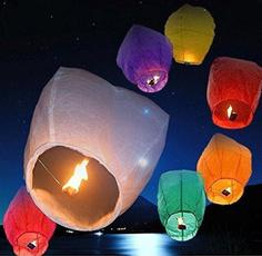 lights, flyingskylantern, Christmas, wishinglamp