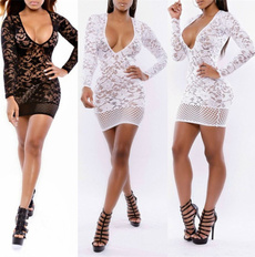 Lace Dress, clubwear, Manga, Long Sleeve
