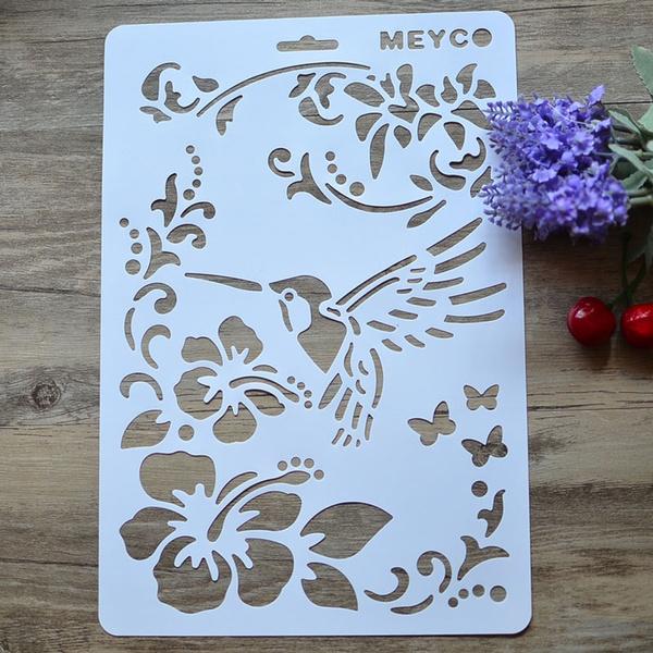 paintingtemplate, stencil, drawingruler, vineflower