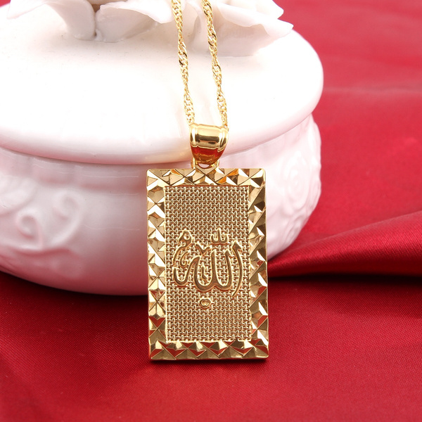 goldplated, islamicpendant, gold, islamicjewelry