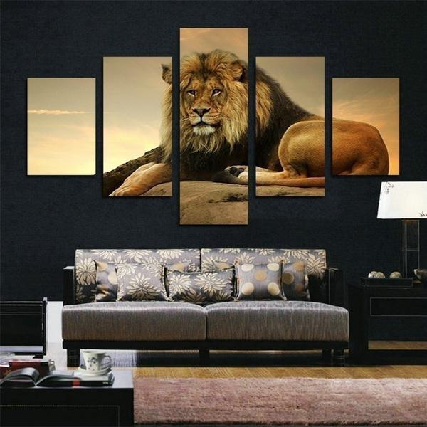canvasart, Wall Art, lionwallart, moderncanvaspainting