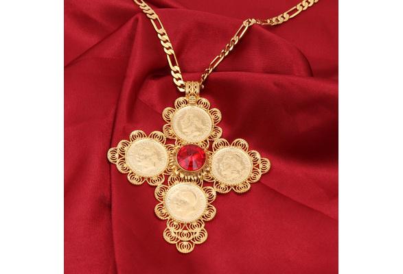 Ethiopian Jewelry Set Eritrean Engagement Bride Wedding Habesha Luxury Jewelry Africa Sudan