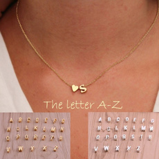lettersnecklace, initialsnecklace, Jewelry, gold