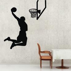 dunkwalldecal, Basketball, art, Home Decor