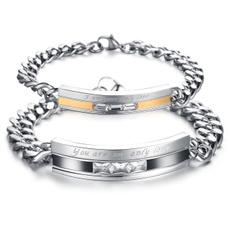 Steel, Plating, Titanium Steel Bracelet, Natural