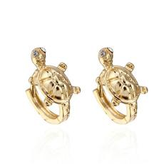 Turtle, cute, Hoop Earring, Jewelry