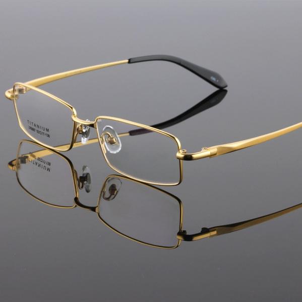 men accessories, glasses frame, gold, eyewear frames