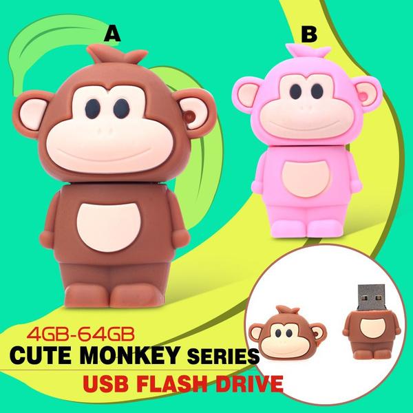 64gbusbflash, monkey, cute, 64gb