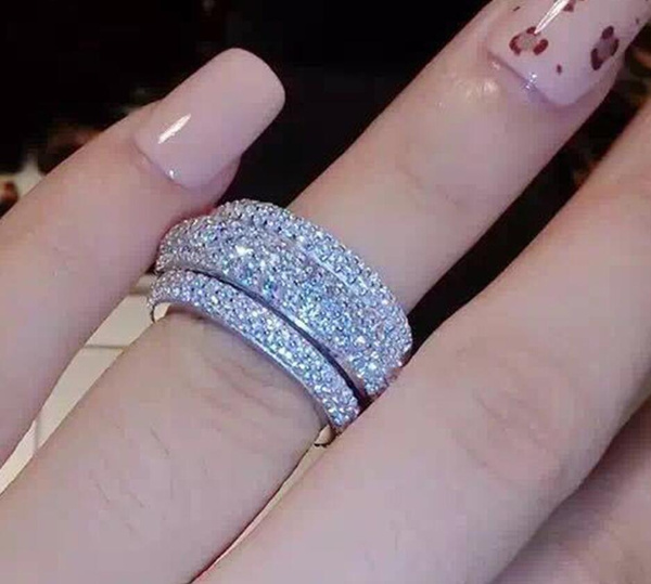 Sterling, cutejewelry, czring, womenengagementbandring