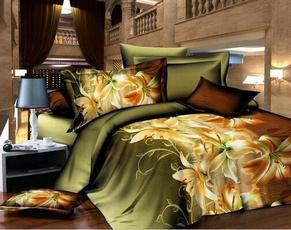 comforterbeddingset, Fashion, bedclothe, flowersbedsheetset