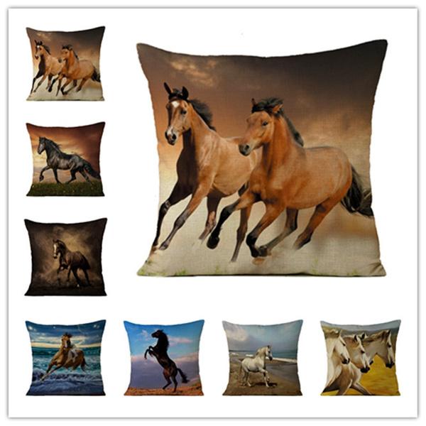 Home Decor, animalpillowcase, horsecushioncover, Pillowcases