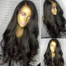 Black wig, wig, Fiber, perruque