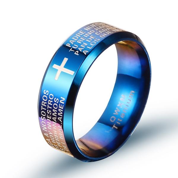 Blues, 8MM, titanium steel, Jewelry