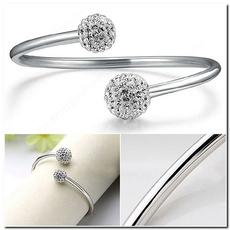 Sterling, glamorous, Jewelry, adjustablebracelet