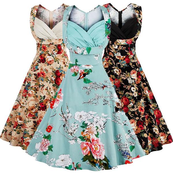 audreyhepburnstyledres, Flowers, Cocktail dresses, 1950sdres