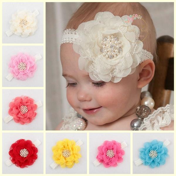 newbornheadband, Lace, laceflower, headwear
