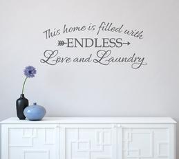 homedecorationwalldecal, Decor, Love, bathroomvanity