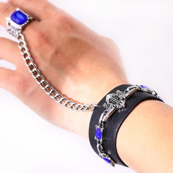 Black Butler Kuroshitsuji Sapphire Ring Bracelet Cosplay Unisex For Anime Fan