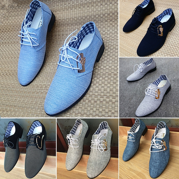 2018 new breathable leather shoes men's