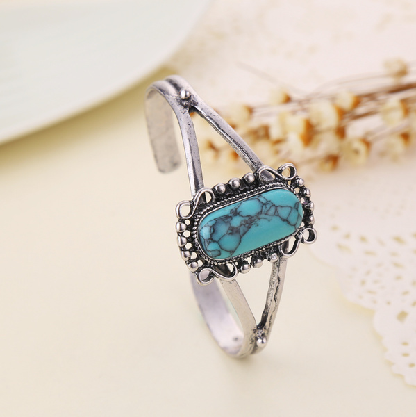 Decorative, Turquoise, Adjustable, Natural
