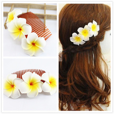 Flowers, Hair Clip, bridalhairclip, hawaii