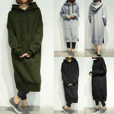 Fleece, hooded, Long Sleeve, Coat