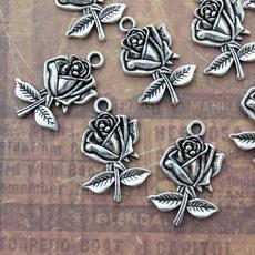 Flowers, Jewelry, Rose, Handmade
