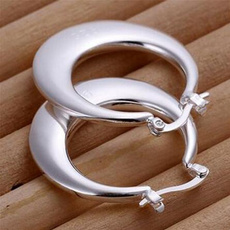Sterling, Hoop Earring, 925sterlingstudearring, Jewelry