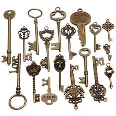 Antique, vintagekey, Men, Jewelry