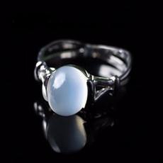 Sterling, moonstonering, swan, Women Ring