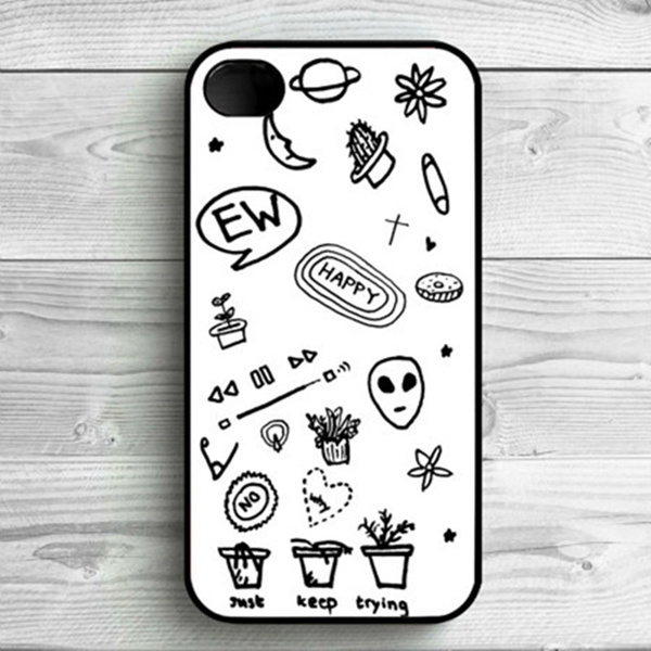 Phone Case Black and White Tumblr For iPhone 4/4S, iPhone 5/5S, iPhone 5c, iPhone 6, iPhone 7 iPhone 4S/5S/6Splus cover/7/7plus Case | Wish