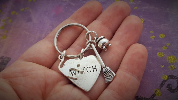 Goth, Key Chain, wicca, Halloween