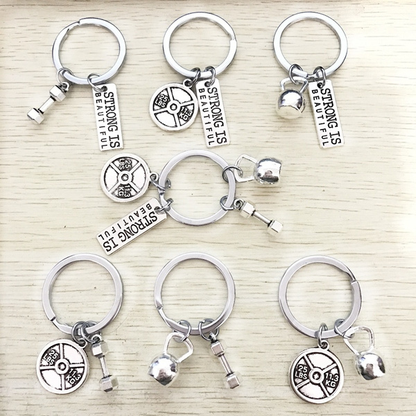 weightplat, Key Chain, Chain, barbellnecklace