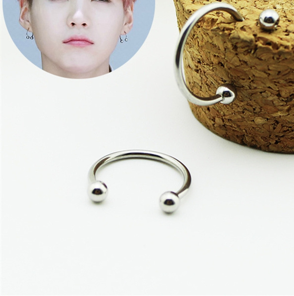 K-Pop, Korea fashion, Fashion, stainless steel earrings