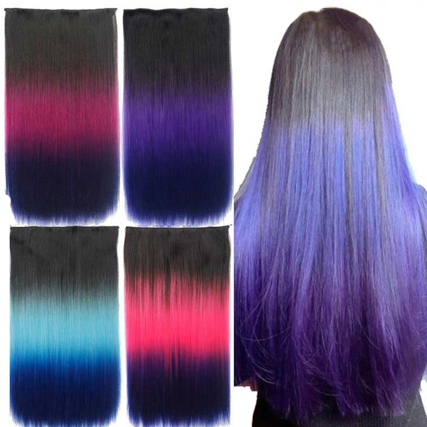 clip in hair extensions, Hair Extensions, longstraightclipinhairextension, straightcosplayhairwig