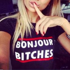 blouse, Funny T Shirt, Sleeve, letter print