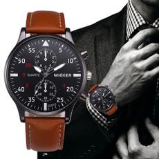 quartz, Waterproof Watch, business watch, leather